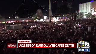 ASU senior narrowly escapes death in Las Vegas - Video