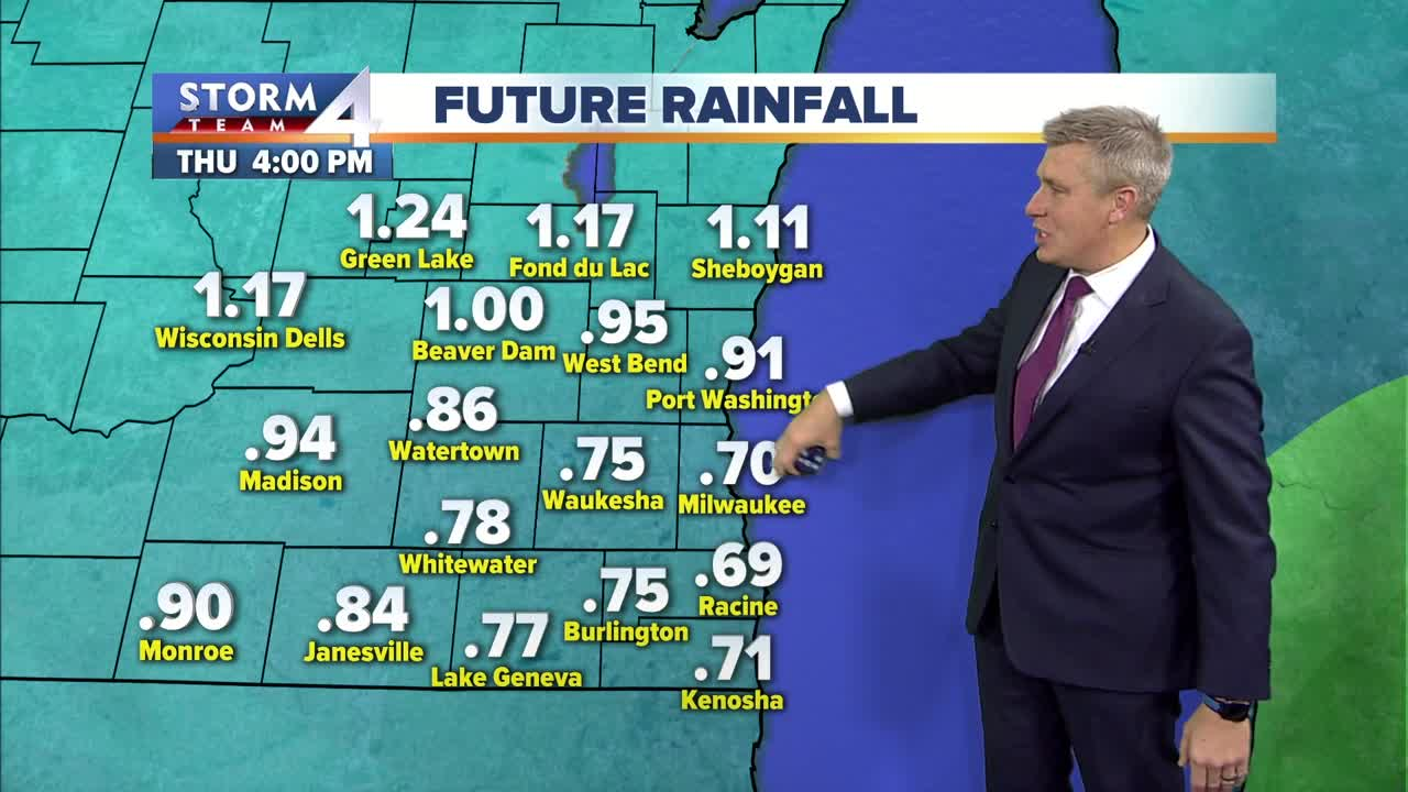 Rain is on the way for Thursday, high of 40 Tuesday