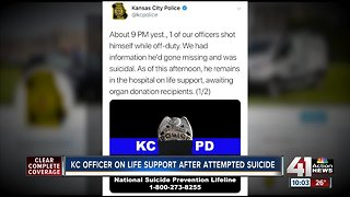 KCPD officer's family to donate organs after self-inflicted gunshot wound