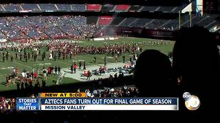 SDSU Aztecs fans turn out for final game of season - Video