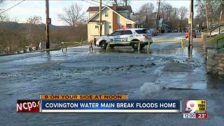 Covington water main break makes for a wet Christmas