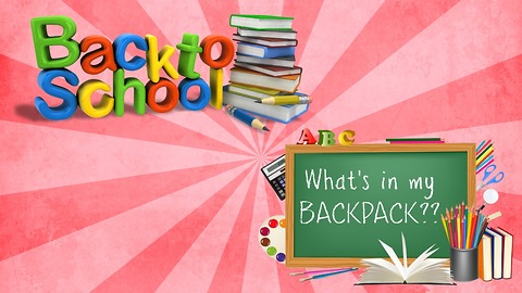 4th and 6th Grade Whats in my Backpack | Back to School!!