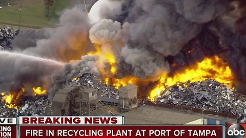 Fire in Recycling Plant at Port of Tampa