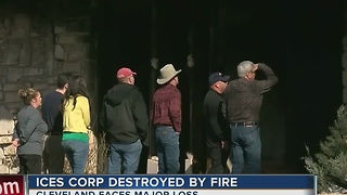Dozens of people without jobs after ICES Corporation fire - Video