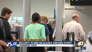 Security scare on Alaska Airlines flight - Video