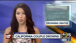 Officials investigating after husband and wife drown at Lake Havasu - Video
