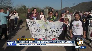 Border rally in support of immigrants - Video