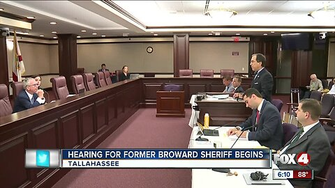 Former Broward Sheriff has hearing