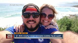 St Pete Couple Honeymooning during false alert - Video
