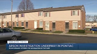 Molotov cocktail lit inside Pontiac apartment with woman, 2 young kids inside