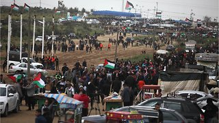 Palestinians Mass At Gaza Border to Mark Protest Anniversary