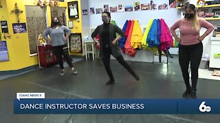 Community support saves dance instructor business