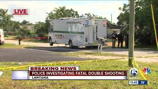 Double shooting near Lantana - Video