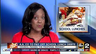 Anne Arundel County to pay off school lunch debts - Video
