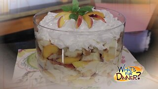 What's for Dinner? - Peach Trifle