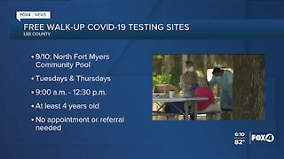 Free walk-up COVID-19 testing sites in Lee County