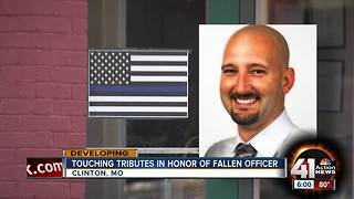 Community honors fallen Officer Gary Michael - Video
