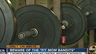 Women allegedly using baby to steal at Phoenix gyms - Video