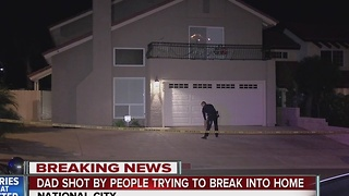 National City father shot during home invasion, manhunt underway for gunmen - Video