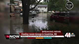 Flooding damages homes near Little Blue River - Video