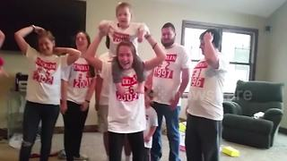 Family of 13 reacts to news of ANOTHER baby - Video