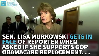 Sen. Lisa Murkowski Gets In Face Of Reporter When Asked If She Supports GOP Obamacare Replacement... - Video