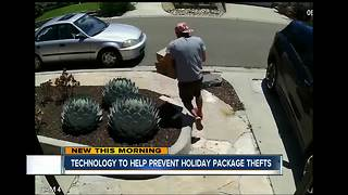 New techniques to help avoid 'porch pirates' during the holidays - Video
