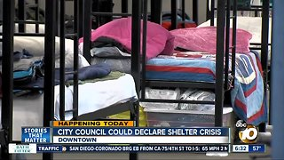 San Diego City Council could declare homeless shelter crisis