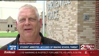 13 year old student arrested after school threat