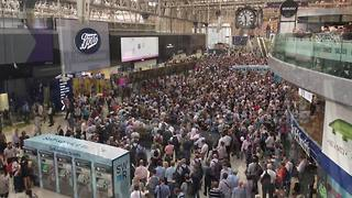 Thousands stranded at Waterloo station due to delays and cancellations - Video