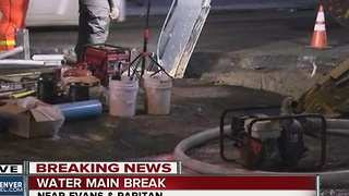 Water main breaks across metro Denver