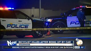 Bicyclist struck by car, killed on Oceanside road