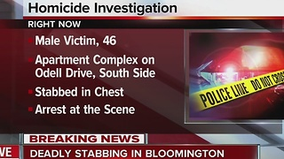 Man dies after being stabbed in the chest in Bloomington - Video