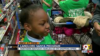 Landlords play Santa for families in need - Video