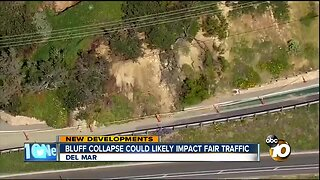 Bluff collapse could likely impact fair traffic