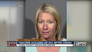 Police:  Intoxicated Las Vegas teacher crashed car outside school - Video