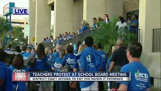 Hillsborough County teachers demand promised pay raises - Video