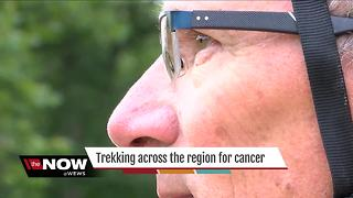 Canton man with family history of colon cancer biking across america to help save lives - Video
