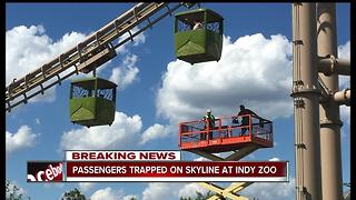 Multiple people rescued from Skyline ride at Indianapolis Zoo - Video