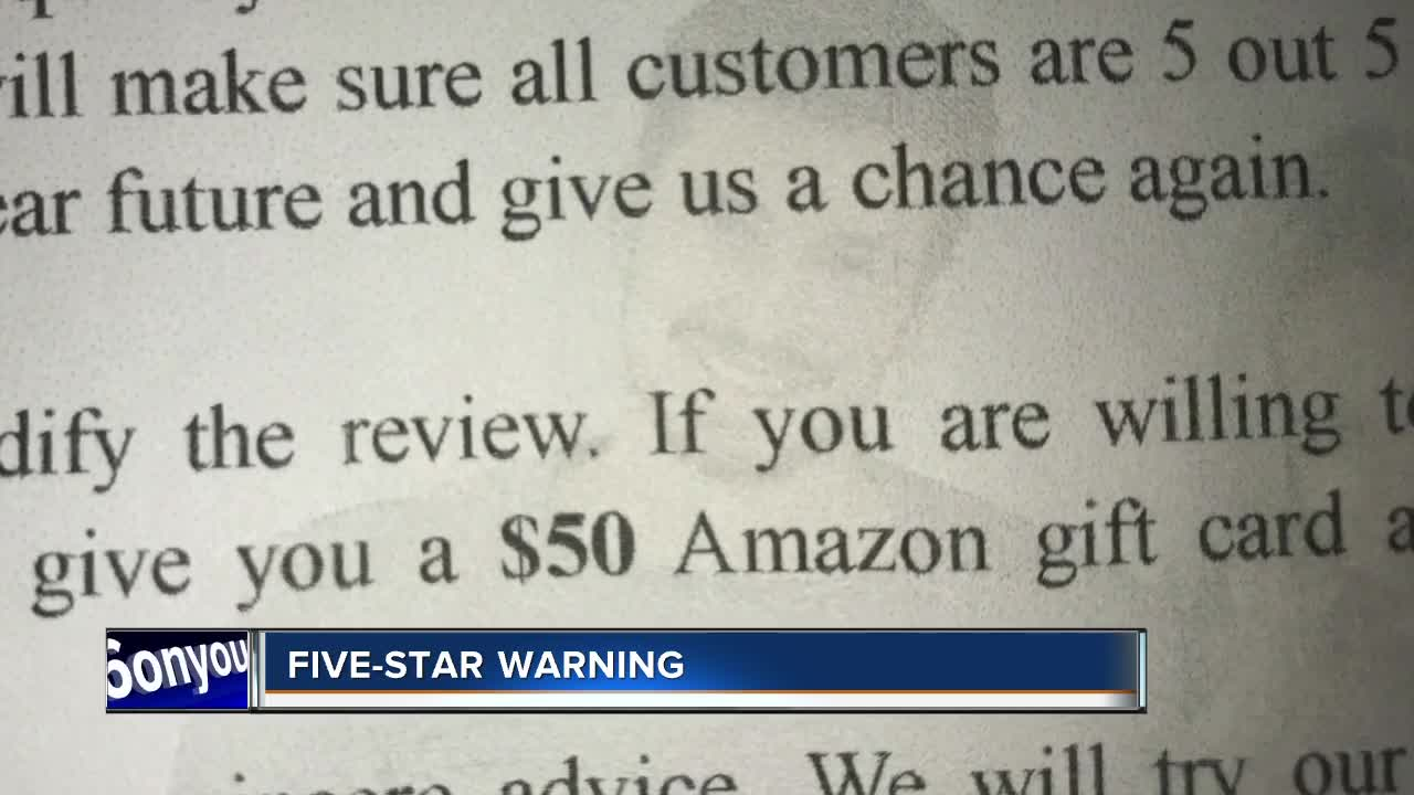 Five star warning