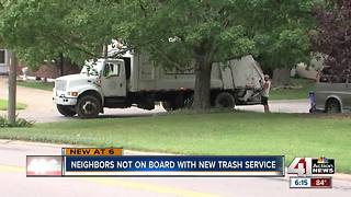 Belton residents aren't happy with new trash service - Video