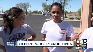Gilbert police providing hints to potential recruits - Video