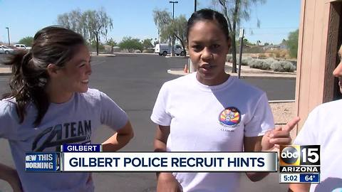 Gilbert police providing hints to potential recruits