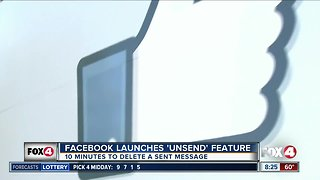 "Facebook launches ""unsend"" feature"