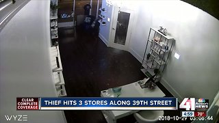 Three stores along 39th Street hit by alleged thief