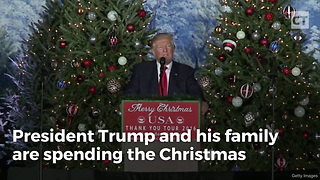 Trump Puts Obama To Shame With Special Police Request During Holiday Visit - Video
