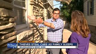 Car thieves strike Milwaukee home while family sleeps - Video
