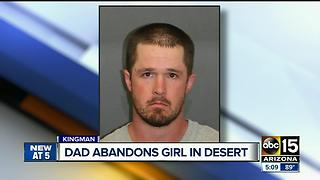 Dad leaves young girl in desert without shoes, water - Video