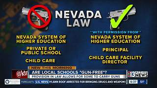 Law may allow teachers to carry guns in Nevada - Video