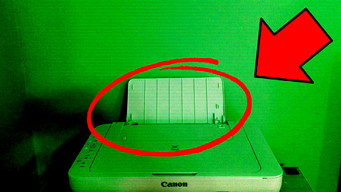 Poltergeist possesses printer during live stream